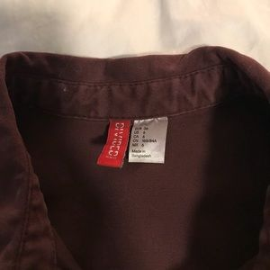 Divided Tops - NWOT Burgundy button up